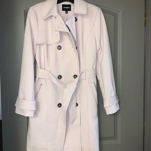 Beautiful blush pink Express trench coat